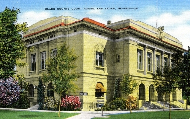 1930s: A postcard shows the Clark County courthouse as it appeared then.