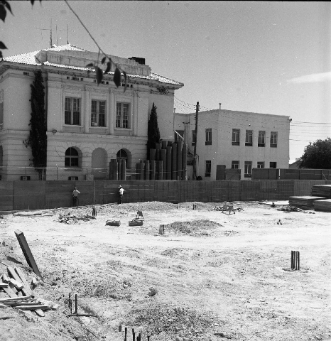1958: This is a view of the third Clark County courthouse under construction.
