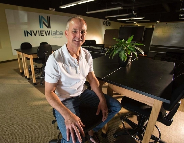 Gary Siroky, president of InView Labs, is seen Thursday at his office at 9225 W. Flamingo Road.