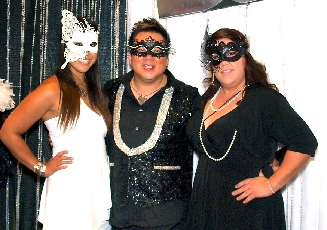 Kristine Yumul, from left, Wayne Young and Christina Evan