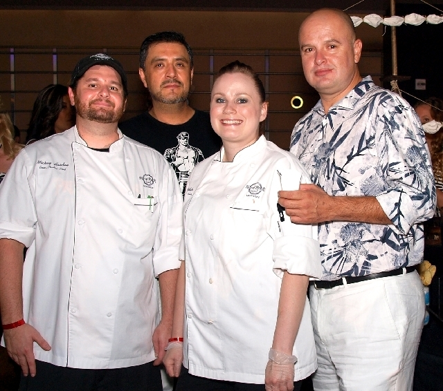 Mickey Harden, from left, Amadar Acosta, Tami White and Hector Aldaco