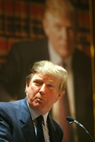 Donald Trump speaks at a news conference in New York where he announced the establishment of Trump University on May 23, 2005. New York Attorney General Eric Schneiderman is suing Trump for $40 mi ...