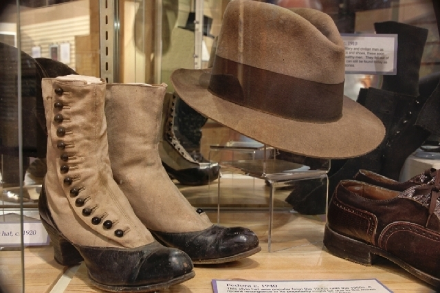 "The Clark County Museum is hosting ""Top to Toe: A Look at American Hats and Shoes."""