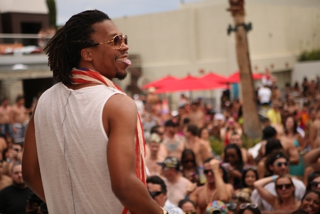 """Lupe Fiasco performed last Friday at Palms pool dayclub """"Ditch Fridays."""""""