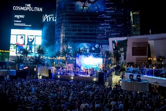 MGMT performs Monday at Boulevard Pool at The Cosmopolitan of Las Vegas.