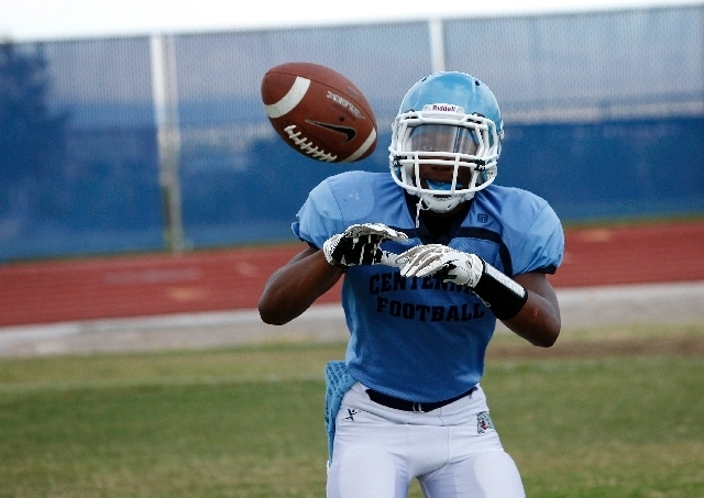 "Centennial running back Lantz Worthington, shown Wednesday at practice, rushed for 644 yards and 10 TDs in 2012. ""Getting him in space is going to be key,"" coach Leon Evans says. (John Locher/La ..."