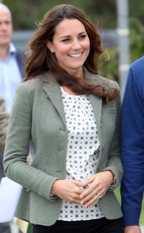 Kate, Duchess of Cambridge, made her first public appearance since the birth of Prince George as she joined husband Prince William, the Duke Of Cambridge, Friday for the start of the Ring O' Fire ...