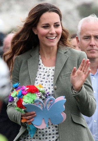 Kate, Duchess of Cambridge, made her first public appearance since the birth of Prince George as she joined husband Prince William, the Duke Of Cambridge, on Friday at Breakwater Country Park for  ...