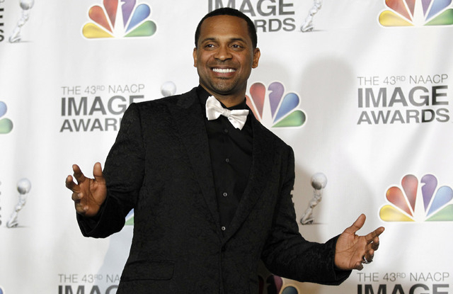 Mike Epps is seen backstage at the 43rd NAACP Image Awards on Friday, Feb. 17, 2012, in Los Angeles. (AP Photo/Matt Sayles)