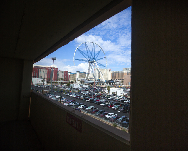 The High Roller Observation Wheel at The Linq as seen Thursday, Aug. 29 2013 from the Westin Las Vegas Hotel parking garage.The 550-foot tall ferris wheel will be the tallest in the world. It is s ...