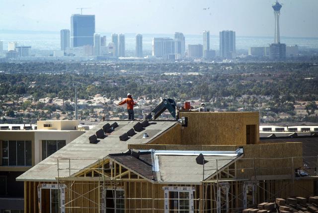 Home construction as seen  on Monday, July 8, 2013 Horizon Ridge Parkway and Nevada Ridge in Henderson. (Jeff Scheid/Las Vegas Review-Journal)