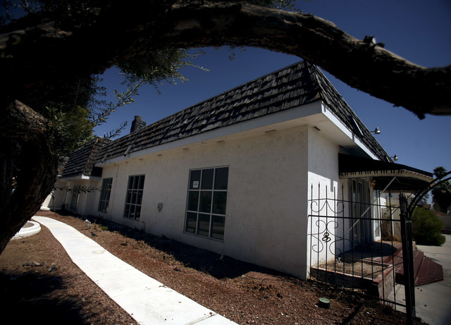 The home formerly owned by Liberace at 4982 Shirley Street Tuesday, Aug. 28, 2012. (Jeff Scheid/Las Vegas Review-Journal)