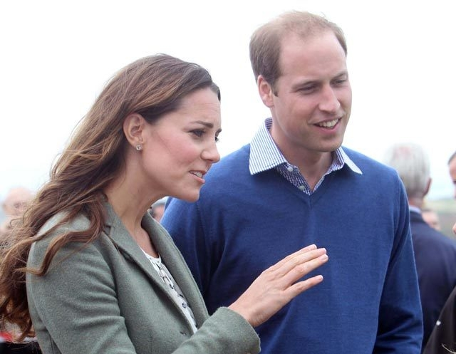 Britain's Duke and Duchess of Cambridge arrive at Breakwater Country Park for the start of the Ring O' Fire Anglesey Coastal Ultra Marathon in Anglesey, Wales on Frida. Kate joined her husband, Pr ...