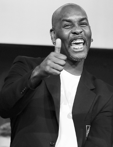 Jessica Hill/the associated press Nine-time NBA All-Star guard Gary Payton, a 16-year Las Vegas resident, gives a thumbs-up Saturday during a news conference at the Naismith Basketball Hall of Fam ...
