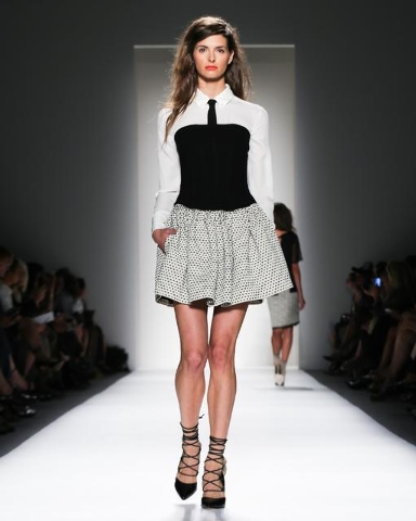 In this Thursday, Sept. 5 photo, fashion from the Marissa Webb Spring 2014 collection is modeled during Fashion Week in New York. (AP Photo/Marissa Webb)
