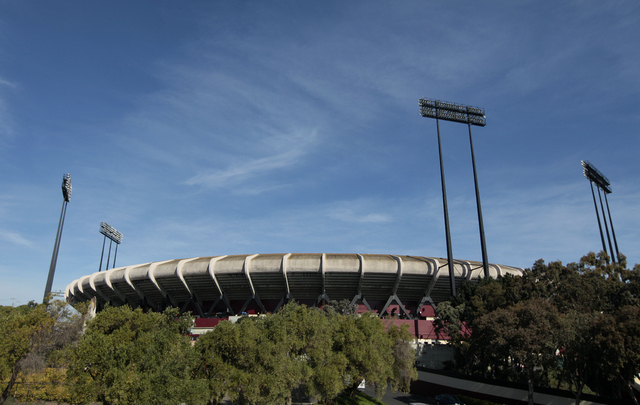 File- This Nov. 11, 2012 file photo shows Candlestick Park is shown before an NFL football game between the San Francisco 49ers and the St. Louis Rams in San Francisco. A football fan fell from an ...