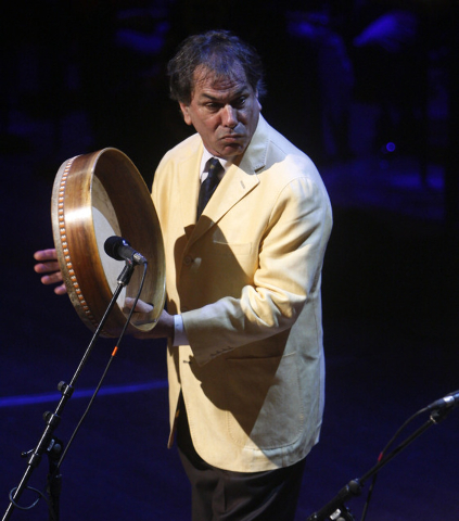 This Sept. 9, 2009 file photo shows Mickey Hart of the Grateful Dead performing at a memorial service for the late CBS News anchorman Walter Cronkite at the Lincoln Center in New York. (AP Photo/C ...