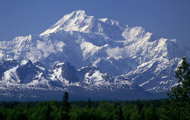 FILE- This undated file photo shows Mount McKinley as seen from Talkeetna, Alaska.  New mapping suggests North America's tallest peak is actually 83 feet shorter than previously thought. Lt. Gov.  ...