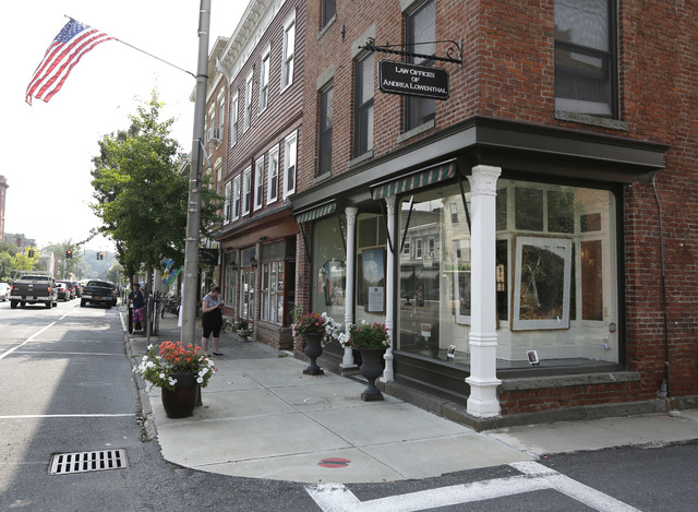 -A vacant restaurant is seen on Thursday, Sept. 12, 2013, in Catskill, N.Y. Locals looking to land a buzz-worthy, foodie-friendly restaurant in this Hudson River village are offering the right che ...
