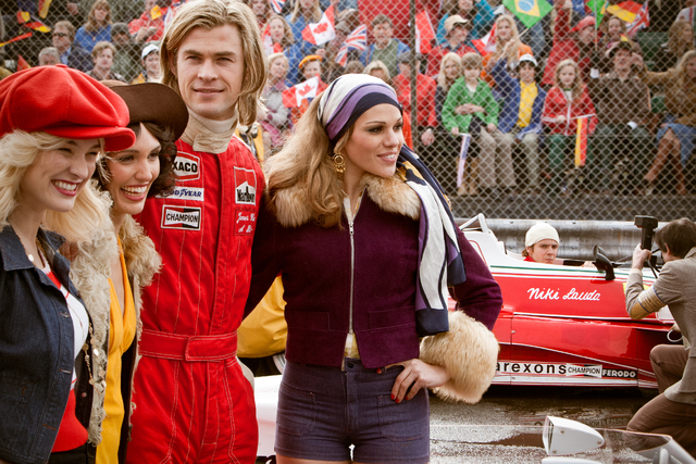 """This image released by Universal Pictures shows Chris Hemsworth in a scene from """"Rush."""" (AP Photo/Universal Pictures, Jaap Buitendijk)"""