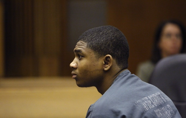 FILE - In this June 30, 2010 file photo Davontae Sanford sits in a Detroit courtroom. In a decision released Friday, Sept. 27, 2013, an appeals court ruled that Vincent Smothers could give evidenc ...