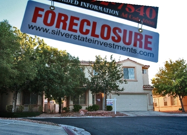A mere three months after a new state law eased bank foreclosure requirements, yet another state law taking effect Tuesday layers on new rules. (Review-Journal File Photo)