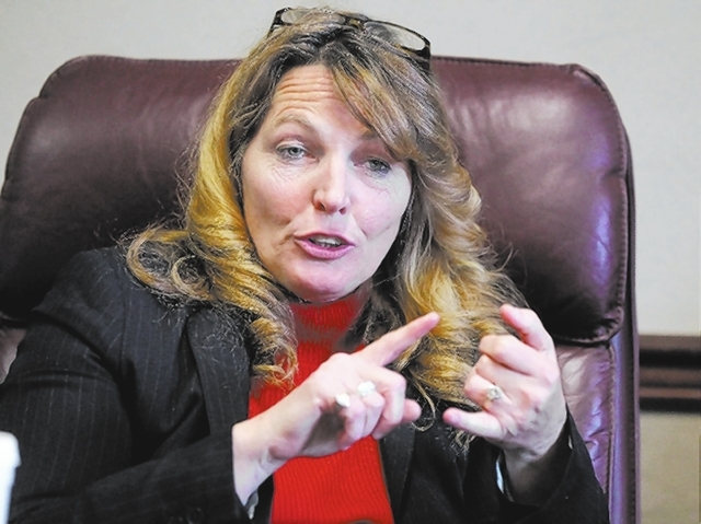 Assembly Speaker Marilyn Kirkpatrick, D-North Las Vegas, sponsored the legislation that created the UNLV stadium board and tax district. (Las Vegas Review-Journal file)