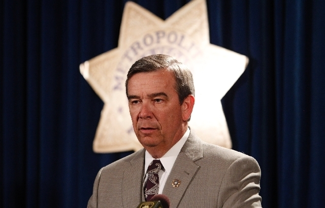 Sheriff Doug Gillespie is expected to testify at the Oct. 1 Clark County Commission meeting where two competing sales tax increase proposals will be considered. (File Photo)