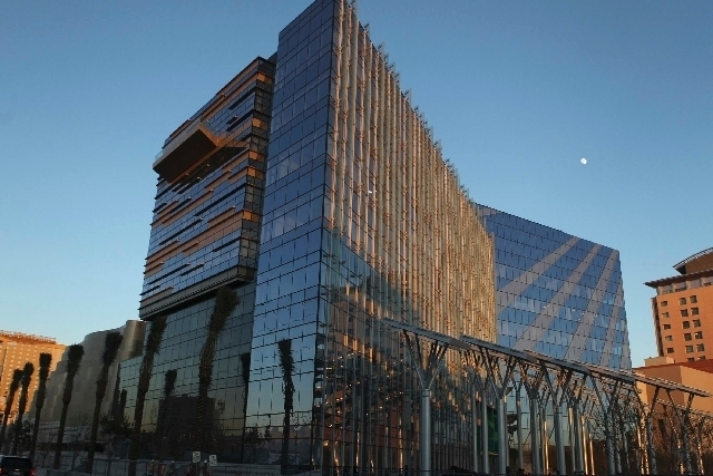Las Vegas City Hall between First and Main Streets and Lewis and Clark Avenue is seen prior to its opening in 2012. (Jeff Scheid/Review-Journal File Photo)