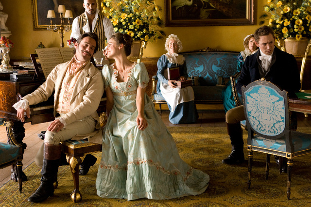 Left to right: James Callis as Colonel Andrews, Ricky Whittle as Captain George East, Keri Russell as Jane Hayes, Jane Seymour as Mrs. Wattlesbrook and JJ Feild as Mr. Henry Nobley Photo by Giles  ...
