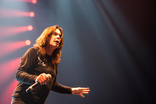 Ozzy Osbourne of Black Sabbath performs at the MGM Grand Garden Arena in Las Vegas on Sunday, Sept. 1, 2013. (Chase Stevens/Las Vegas Review-Journal)