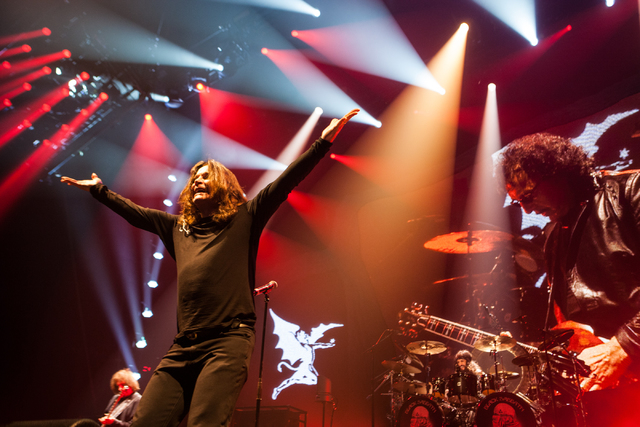 Black Sabbath performs at the MGM Grand Garden Arena in Las Vegas on Sunday, Sept. 1, 2013. (Chase Stevens/Las Vegas Review-Journal)