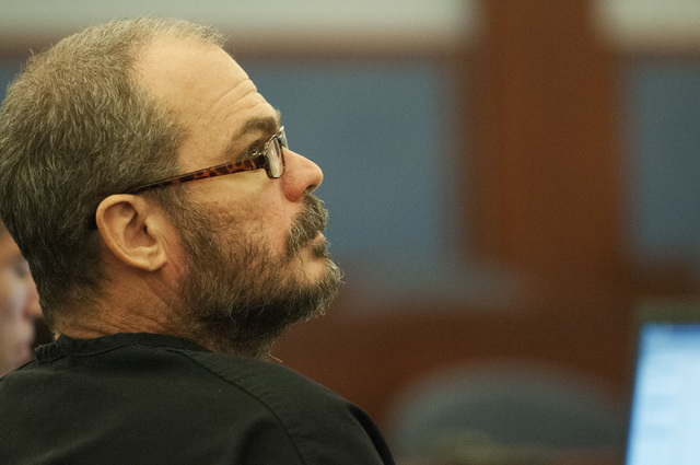 David Allen Brutsche, is seen in the courtroom for his preliminary hearing at the Regional Justice Center, Thursday, Sept. 26, 2013, in Las Vegas, Nev. Brutsche faces charges for conspiracy to com ...
