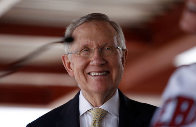 Nevada Sen. Harry Reid announced a $1.3 million grant for the National Urban Search and Rescue team on Wednesday. (John Locher/Las Vegas Review-Journal File Photo)