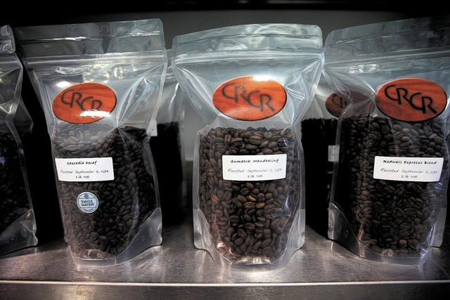 Bagged coffee is seen at Colorado River Coffee Roasters in Boulder City, Nev., Thursday, Sep. 12, 2013. (Jessica Ebelhar/Las Vegas Review-Journal)