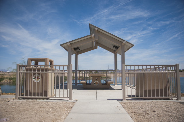 One of five shaded picnic areas is shown at Cornerstone Park, 1600 Wigwam Parkway, Henderson. (Martin S. Fuentes/View)