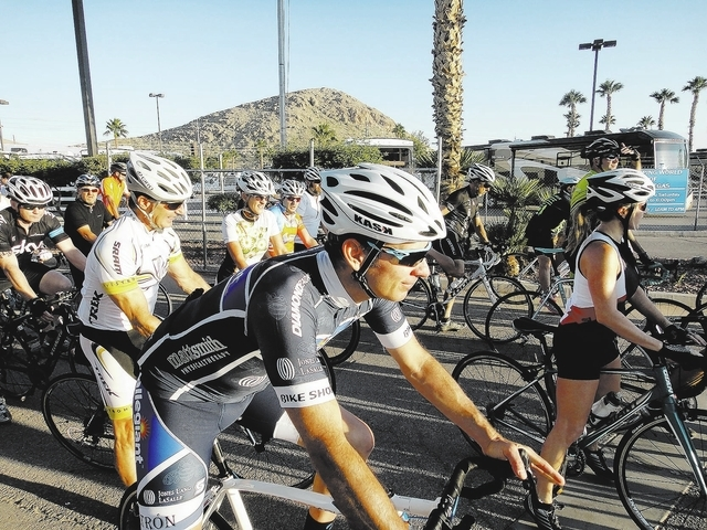 About 400 bicyclists took part in the 3 Feet for Pete Ride on Sept. 14. The event, which included 16- and 28-mile routes departing from Camping World, 13175 Las Vegas Blvd. South, was aimed at rai ...