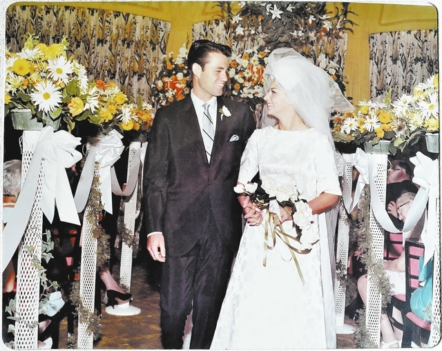 Bill Hughes/Las Vegas Review-Journal Harvey and Jane Levy are seen in a photo from their wedding in 1967. Harvey is participating in a drug trial too see if cancer drug bexarotene can treat Alzhei ...