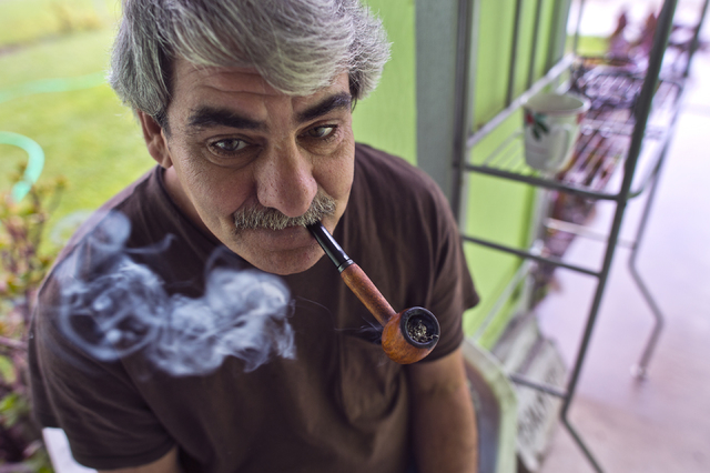 James Flavy Coy Brown, 48,  is addicted to smoking his pipe and consistently asks over and over for more tobacco as he waits for his morning medicine to be delivered. He now lives at the Home Swee ...