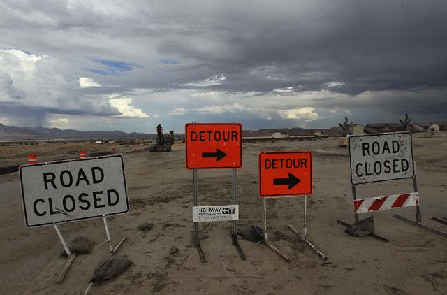 Grand Teton is seen closed following flood damage in Las Vegas on Sept. 4, 2013. (Jason Bean/Las Vegas Review-Journal)