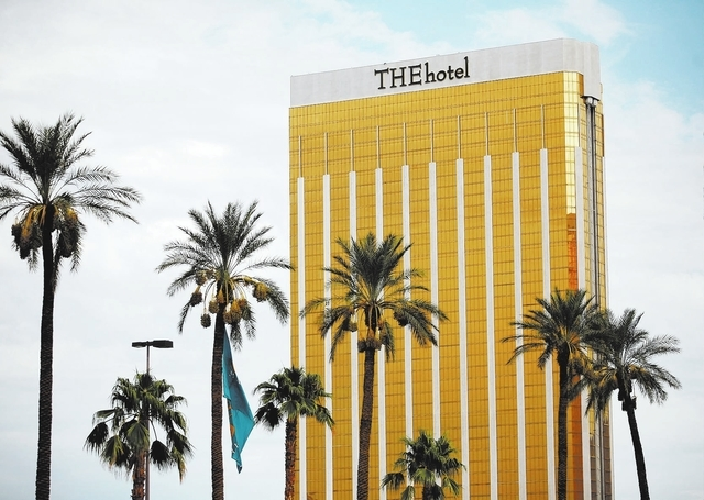 THE Hotel at Mandalay Bay is shown Tuesday, Sept. 10, 2013, in Las Vegas. THE Hotel is expected to transition into the Delano Las Vegas.  (Ronda Churchill/Las Vegas Review-Journal)