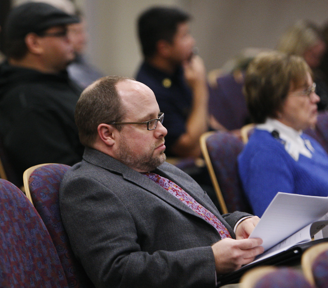 Josh Reid attends the Henderson City Council meeting on Dec. 20, 2011.  Reid's contract for Henderson City attorney was successfully ratified during the evening's meeting. (JASON BEAN/LAS VEGAS RE ...