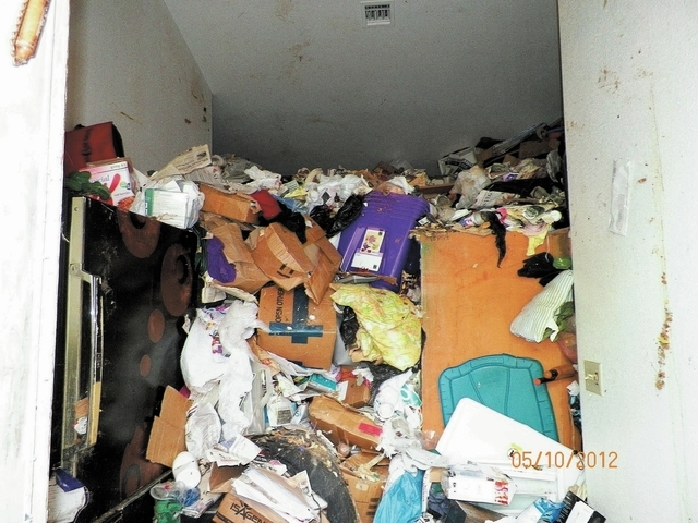 Photos taken by city workers in 2012 show the mess in the residence of Kenneth Epstein, a hoarder living in a Sun City Summerlin duplex. (Courtesy City of Las Vegas)