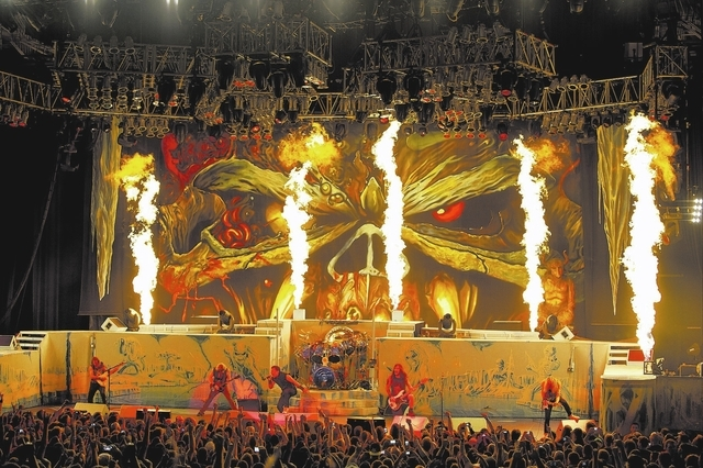 """JOHN McMURTRIE/COURTESY Iron Maiden brings their """"Maiden England 2013"""" tour to Mandalay Bay Events Center on Thursday."""