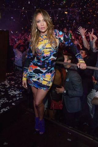 Jennifer Lopez at Hakkasan nightclub Thursday. Courtesy photo by Al Powers/PowersImagery.