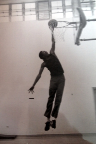 Juan High, also known as Juan X, pictured dunking on a prison basketball hoop in 1986. High, who converted to Islam while still incarcerated, recently founded Save A Life Today, or SALT, an area n ...