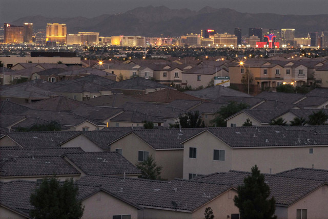 California-based research firm Realty­Trac said Wednesday that 62 percent of all August sales in Nevada were cash purchases. (AP Photo/Julie Jacobson, File)