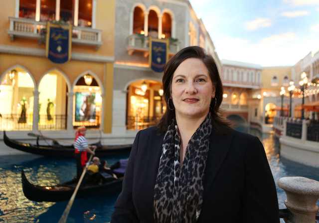 Janet LaFevre, senior marketing manager for the Grand Canal Shoppes and Fashion Show Mall, says Strip retail is thriving. (Ronda Churchill/Las Vegas Review-Journal)