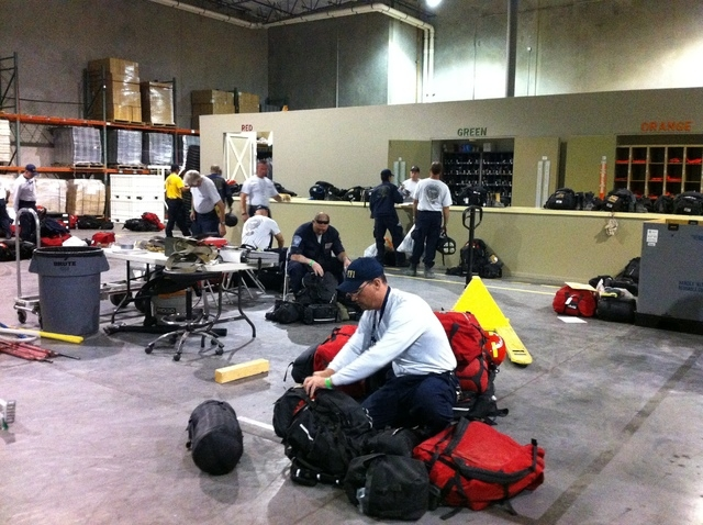 Nevada Task Force 1 packed up their gear Saturday evening after they were called out to Colorado to aid with flood water rescues. (Courtesy Stacey Welling)