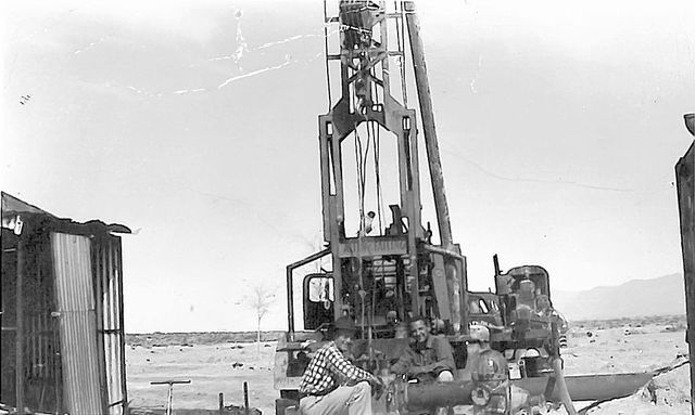 Fred Allen II, left, and Bert Failing pose in front of an Allen & Failing Drilling Co. rig around 1950. Allen went on to found Allen Water Well Co. and serve as the likely namesake for modern-day  ...